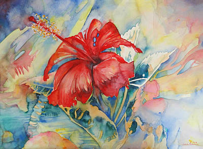 Painting - Ibiscus by Miki De Goodaboom