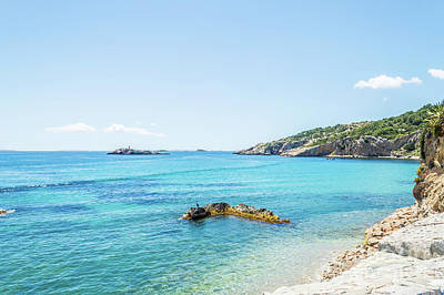 Photograph - Ibiza Coastline by Steve Purnell