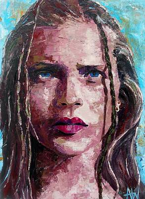 Beach Model Painting - Ibiza Girl  by Angie Wright