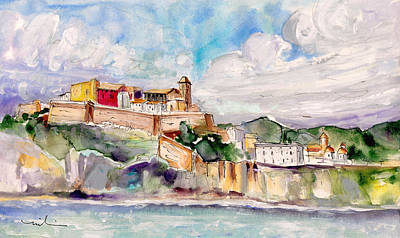 Painting - Ibiza Panoramic 01 by Miki De Goodaboom