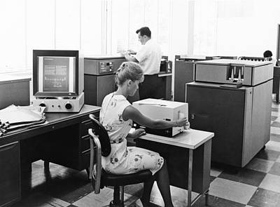Aperture Photograph - Ibm Microfiche Cards by Underwood Archives