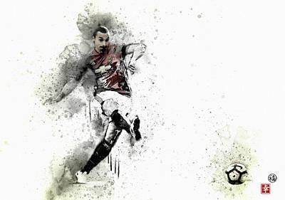 Wayne Rooney Digital Art -  Ibra  by Don Kuing