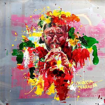 Trumpet Painting - Ibrahim Maalouf by Massimo Chioccia and Olga Tsarkova