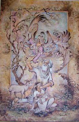Painting - Ibrahim Prophet by Reza Badrossama