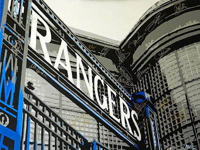 Ally Painting - Ibrox Gates by Scott Strachan