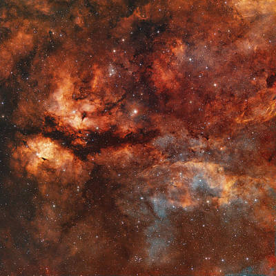 Ic 1318 And The Butterfly Nebula Art Print