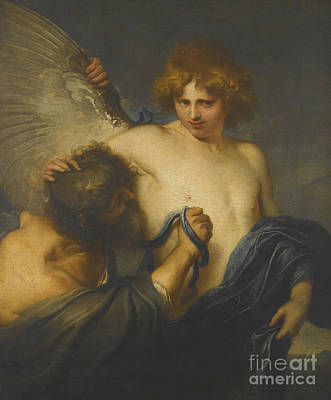 Painting - Icarus And Daedalus by Celestial Images