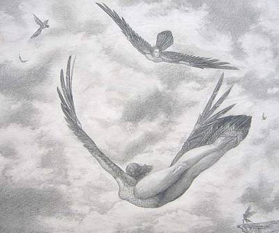 Icarus Suits Art Print by Julianna Ziegler