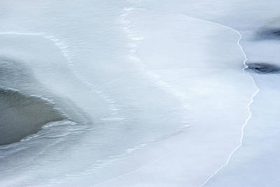 Photograph - Ice Abstract 3 by Hitendra SINKAR