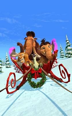 Ice Age Digital Art - Ice Age A Mammoth Christmas 2011  by Fine Artist
