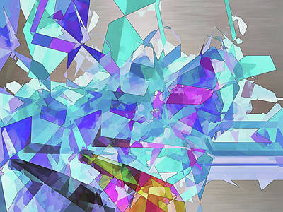 Digital Art - Ice Age by Wendy J St Christopher