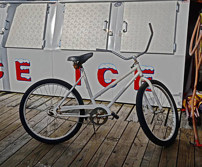 Photograph - Ice And Bike by Linda Brown