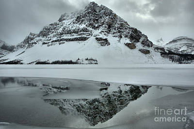 Photograph - Ice And Fog At Crowfoot Mountain by Adam Jewell
