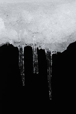 Abstract Graphics Rights Managed Images - Ice And Night I Royalty-Free Image by Angie Tirado