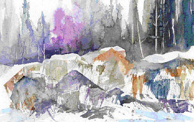 Painting - Ice And Rocks by Jerry Kelley