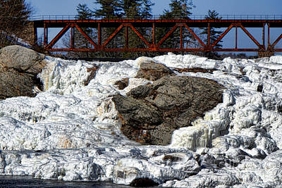 Androscoggin Photograph - Ice And Steel by Olivier Le Queinec