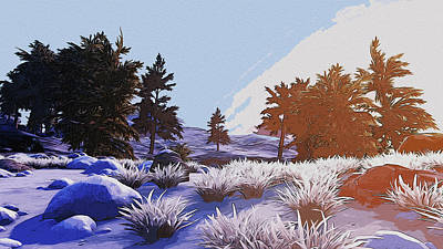 Digital Art - Ice And Sunset by Andrea Mazzocchetti