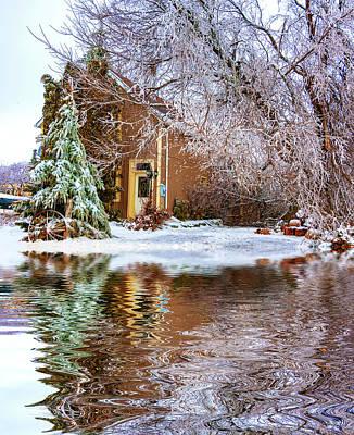 Wagon Wheels Photograph - Ice Attack - Paint by Steve Harrington