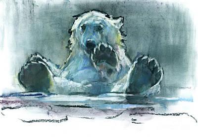 In The Bath Pastel - Ice Bath by Mark Adlington