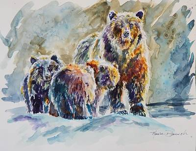 Painting - Ice Bears by P Maure Bausch