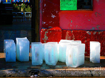 Ice Blocks By Michael Fitzpatrick Art Print by Mexicolors Art Photography