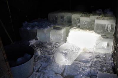 Ice Blocks In House Art Print