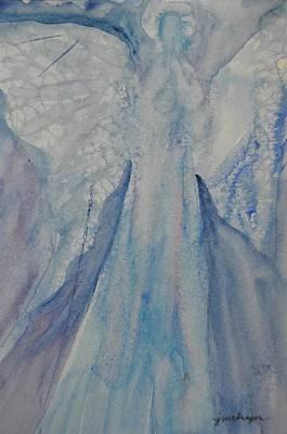 Ice Blue Angel Art Print by Jeanne MCBRAYER