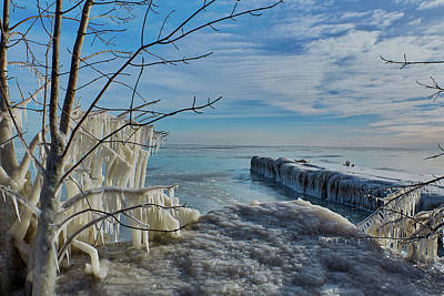 Photograph - Ice Blue by CJ Schmit