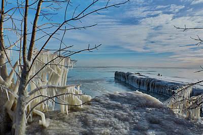 Photograph - Ice Blue by CJ Schmit