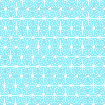 Digital Art - Ice Blue Geometric Flowers And Florals Isosceles Triangle  by Tracey Harrington-Simpson