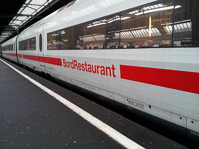Photograph - Ice Bord Restaurant At Zurich Mainstation by Ernst Dittmar