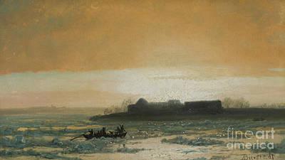 Thawing Painting - Ice Breaking Up by Albert Bierstadt