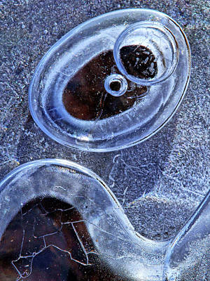 Photograph - Ice Bubble Abstract by Carolyn Derstine