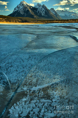 Photograph - Ice Bubbles And Fractures by Adam Jewell