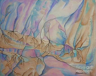 Ice Cascade Art Print by Marcella Muhammad