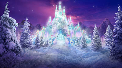 Snow Mixed Media - Ice Castle by Philip Straub