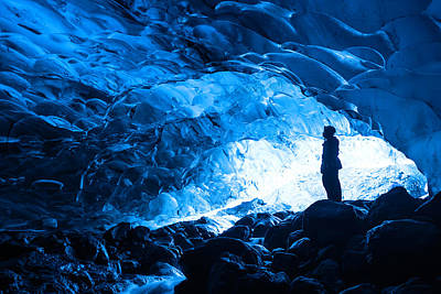 Photograph - Ice Cave Explorer by Scott Cunningham