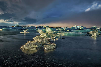 Photograph - Ice Chunks by Allen Biedrzycki