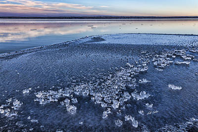 Photograph - Ice Chunks by Bill Kesler