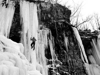 Photograph - Ice Climber In Upstate New York by Brendan Reals