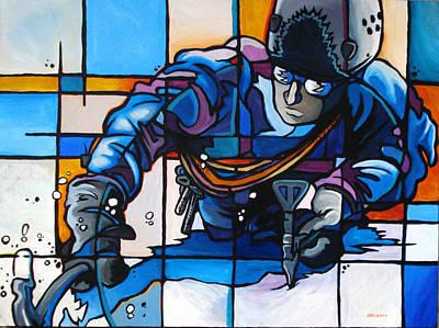 Ice Climbing Painting - Ice Climber by Jesse Crock