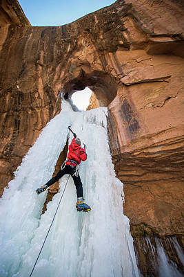 Photograph - Ice Climber by Whit Richardson