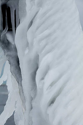 Photograph - Ice Closeup by Fran Riley
