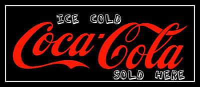 Photograph - Ice Cold Coca Coke Coca Cola Art by Reid Callaway