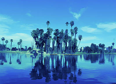 Photograph - Ice Cold Palm Tree Reflections by Aimee L Maher Photography and Art Visit ALMGallerydotcom