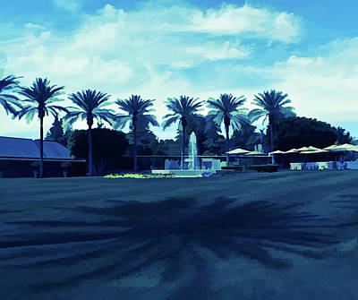 Photograph - Ice Cold Palm Trees And Shadows by Aimee L Maher Photography and Art Visit ALMGallerydotcom
