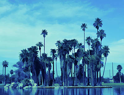 Photograph - Ice Cold Palm Trees At Encanto Park by Aimee L Maher Photography and Art Visit ALMGallerydotcom
