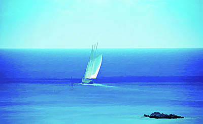 Photograph - Ice Cold Sail The Ocean Blue by Aimee L Maher ALM GALLERY