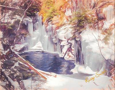 Digital Art - Ice Cold View Of Sages Ravine. Northwest Connecticut by Rusty R Smith