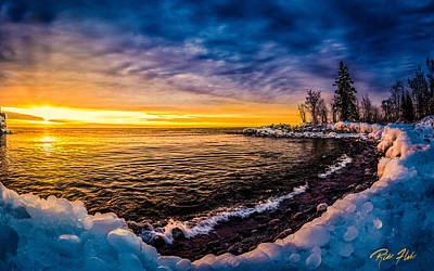 Photograph - Ice-covered Lake Superior Shore Near Tettegouche by Rikk Flohr